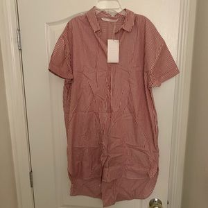 Red and white striped dress tunic from Zara
